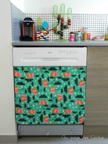 Lave-vaisselle customisé Au pays des Cactus