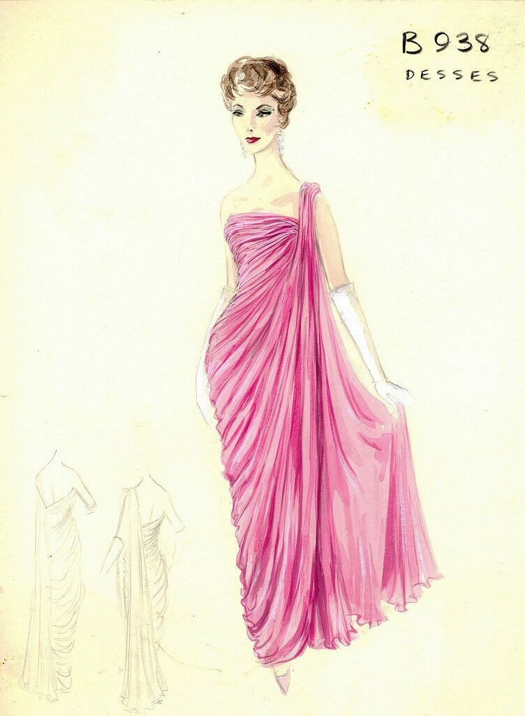 Bergdorf Goodman Archives. Coctail & Evening Dresses: Jean Dessès