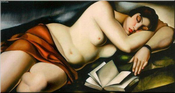 Lempicka Nu couche au livre 1927