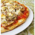 Pizza aux endives et graines germées