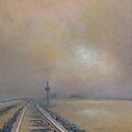 K'nowhere #36, En l'horizon ne cherche pas hier, 2015 pastel à l'huile 40 x 60 cm.