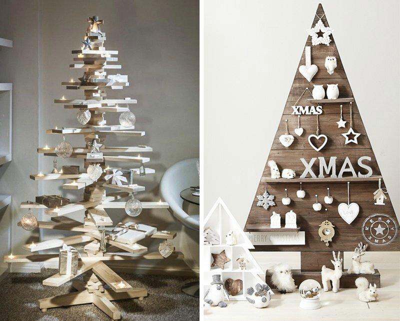 décoration-scandinave-blanche-sapin-Noël-bois-récupération