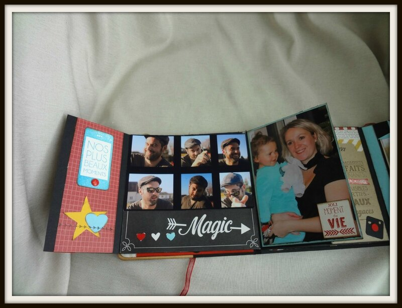 album scrapbooking anniversaire 40 ans. Black Bedroom Furniture Sets. Home Design Ideas