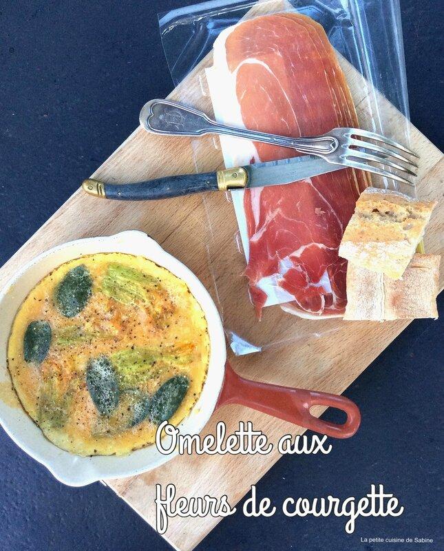 Omelette aux fleurs de courgette