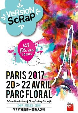 Salon version scrap paris du 20 au 22 avril 2017 for Salon du chien 2017 paris