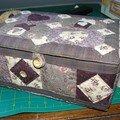 boîte en patchwork faite au club de Forges-les-bains
