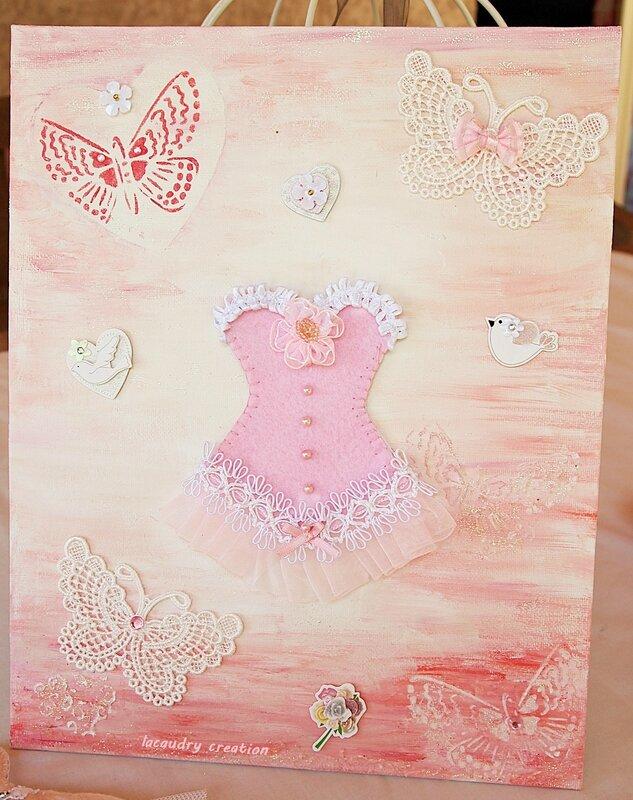 toile corset rose papillon 2