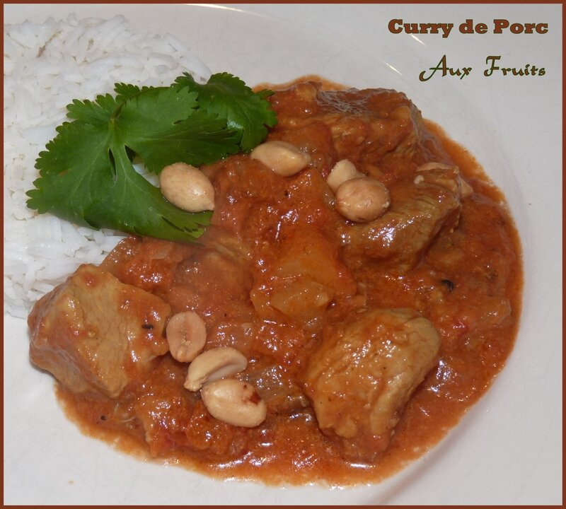 Curry de porc aux fruits2
