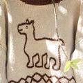 Les lamas: pull garçon 18-24 mois