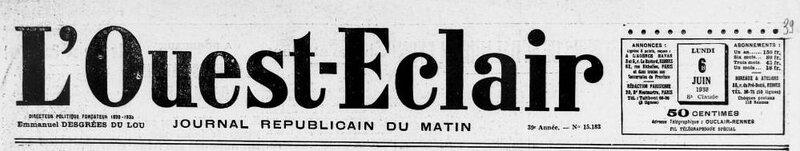 Ouest Eclair 6 juin 1938_1