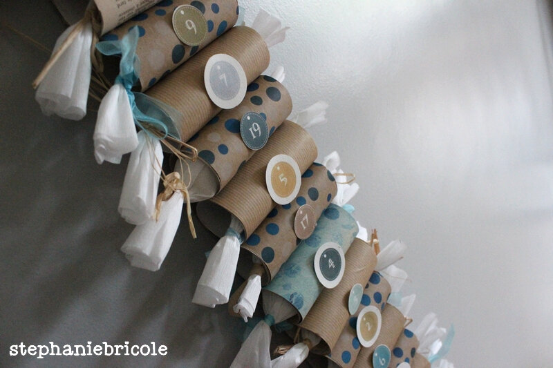 diy noel r cup 3 calendriers de l avent en rouleaux de papier carton st phanie bricole. Black Bedroom Furniture Sets. Home Design Ideas