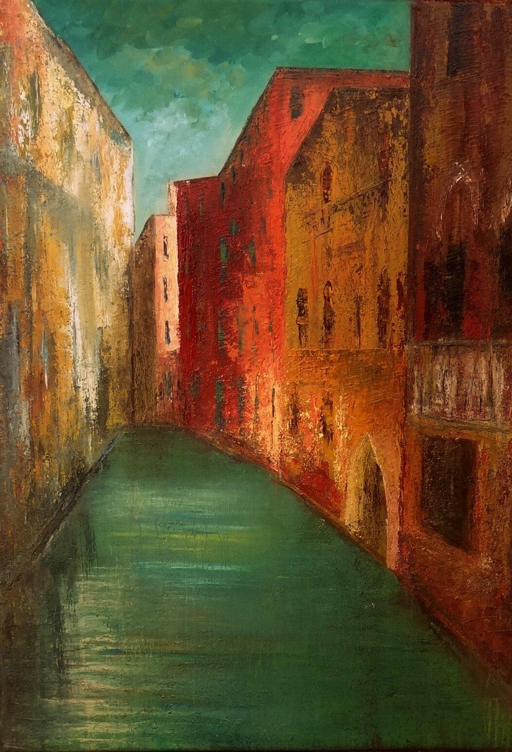 Venise - huile sur toile
