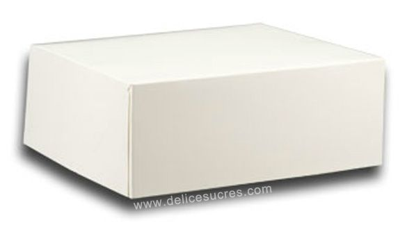 50 boites patissi res blanches en carton 14x14x6cm emballage packaging pour la p tisserie. Black Bedroom Furniture Sets. Home Design Ideas