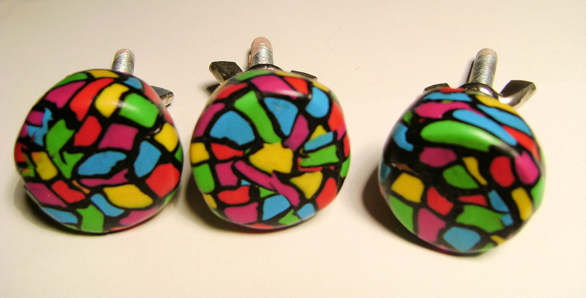 Boutons de tiroirs en p te fimo id es couleurs cr ations - Idee creation pate fimo ...