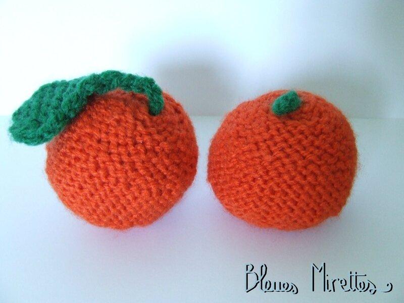 Oranges au tricot