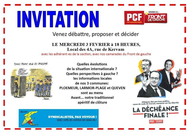 invitation réunion mensuelle fevrier 2016