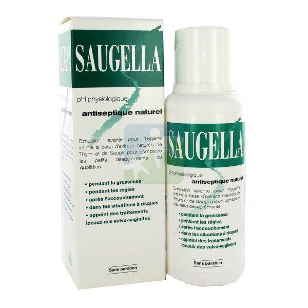 Gel intime pour la douche Saugella (version verte)
