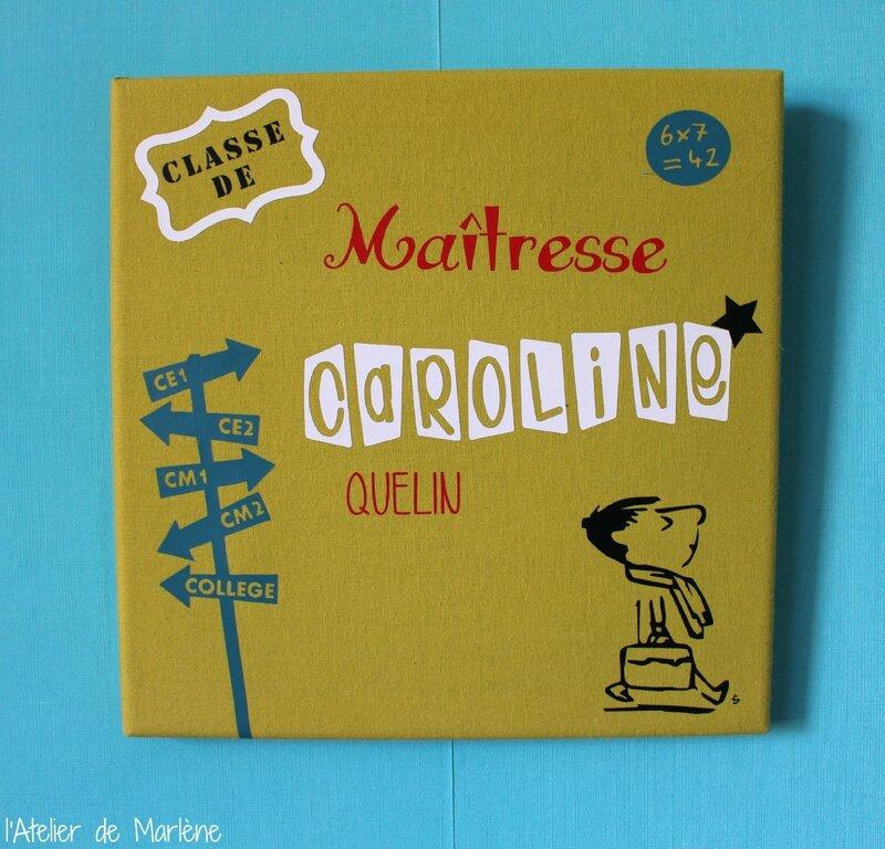 tableau maitresse Caroline