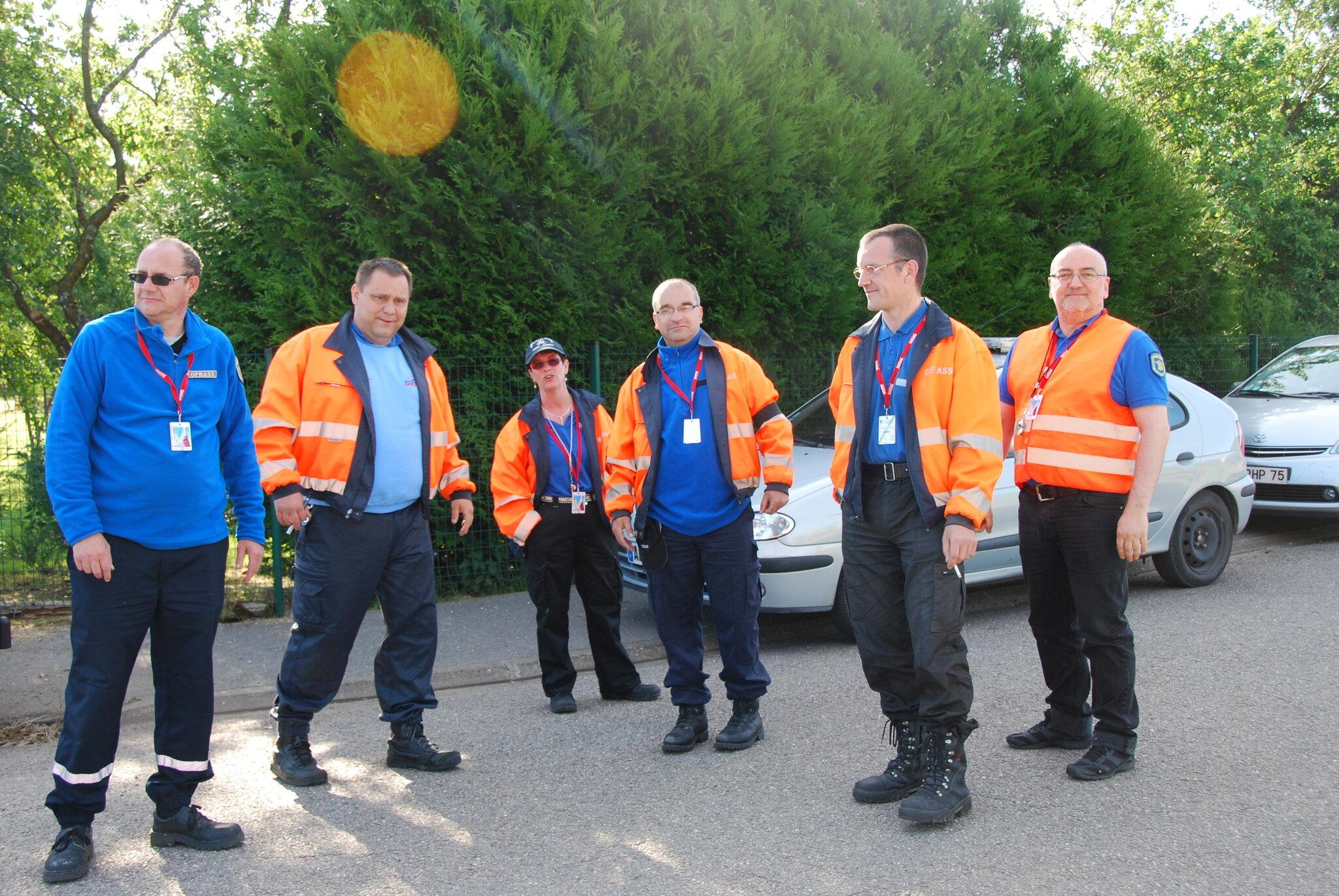 Les signaleurs de l'Ofrass préparent le Paris-Alsace 2015