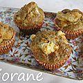 Muffins à la crème fraîche, chèvre et origan