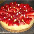 Cheesecake vanille aux fraises
