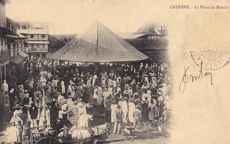 Cayenne place du Marché 1900