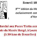 9éme editon du marche aus puces (musée herge ) louvain-la neuve : belgique