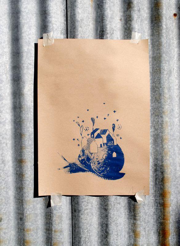 affiche escargot