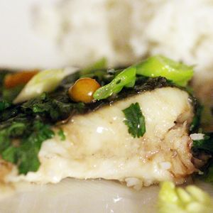 turbot aux herbes