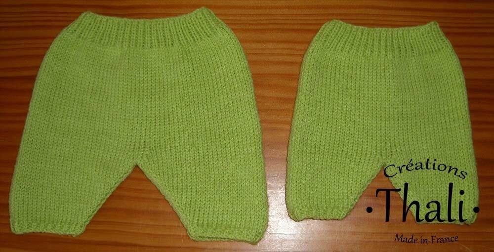 tricoter un pantalon naissance