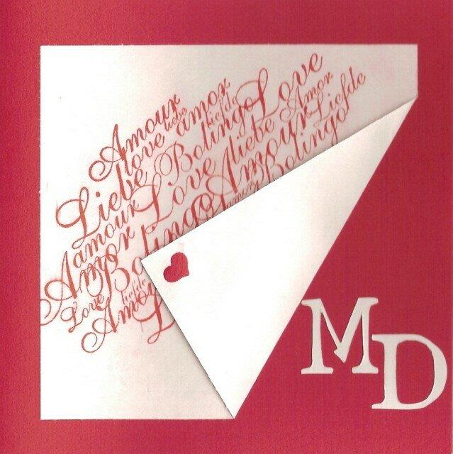 Carte St valentin-initiales