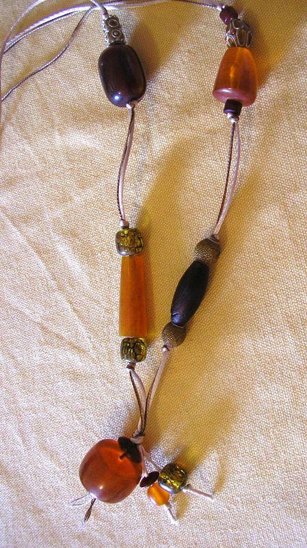 collier orange nathalie