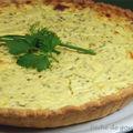 Tarte fromagére aux herbes et son mesclun aux tomates cerises