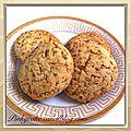 Biscuits croquants aux sésames sans gluten, sans lactose