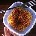 Astuce : sauce bolognaise hyperprotéinée