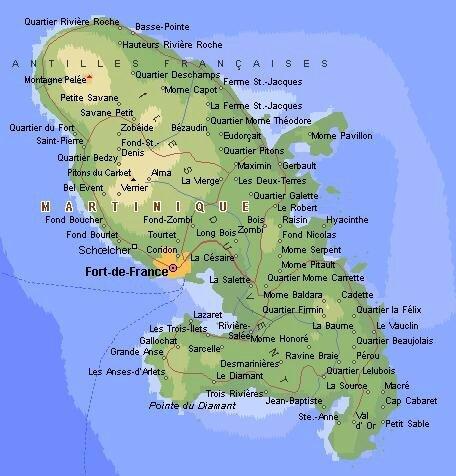 Carte Plages De Martinique Ma Martinique Madinina