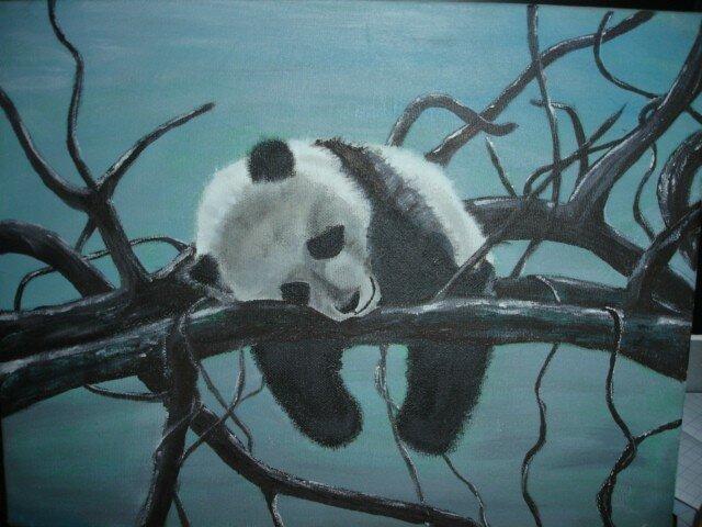 Panda 2 photo de peinture tout support gus le bricolo for Peinture tout support
