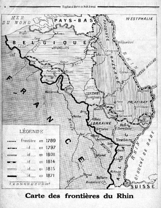 Carte frontières du Rhin