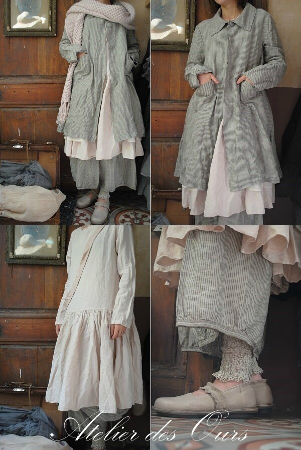 mlle rosalia robe rose les ours pantalon ray les ours veste ray e les ours charpe en. Black Bedroom Furniture Sets. Home Design Ideas