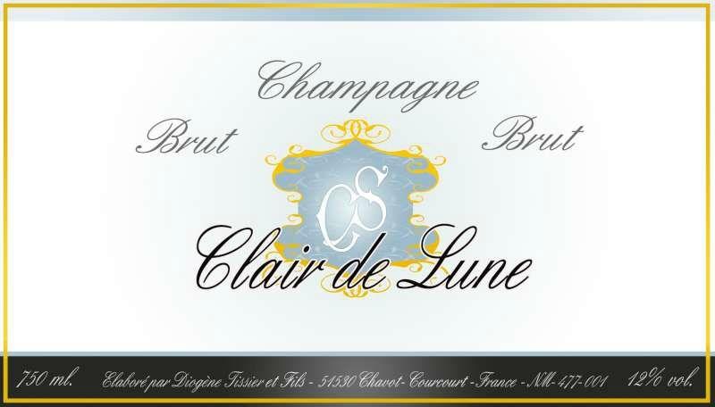 Étiquette Champagne Brut Chapelier Simon