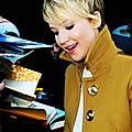 Jennifer lawrence dans l'émission good morning america à new york