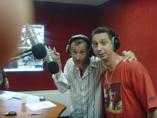 Ivan Frésard (Rouge FM, émissions Les Patriotes), avec Franck Riahi, en pleine promo