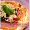 Tarte fine tomates et chorizo