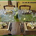 Table verte et brune