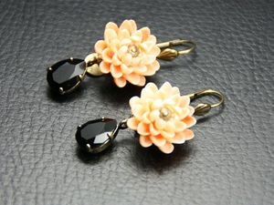 julie sionboucles-d-oreilles-water-lily-fleur-resine-saumon-712