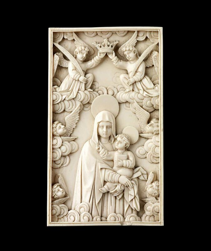 the virgin crowned by angels' made St mary of the angels and the virgin-made-church who has exalted you above the angels, has crowned you queen, and has seated you with him forever on his throne.