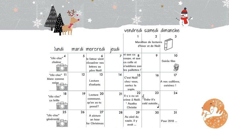 Noël calendrier