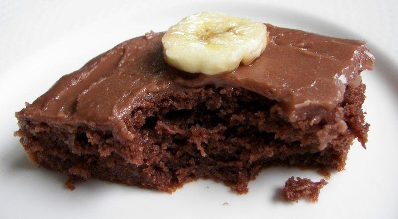Carrés chocolat et bananes