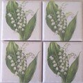 Muguet - Lilly of the valley coasters