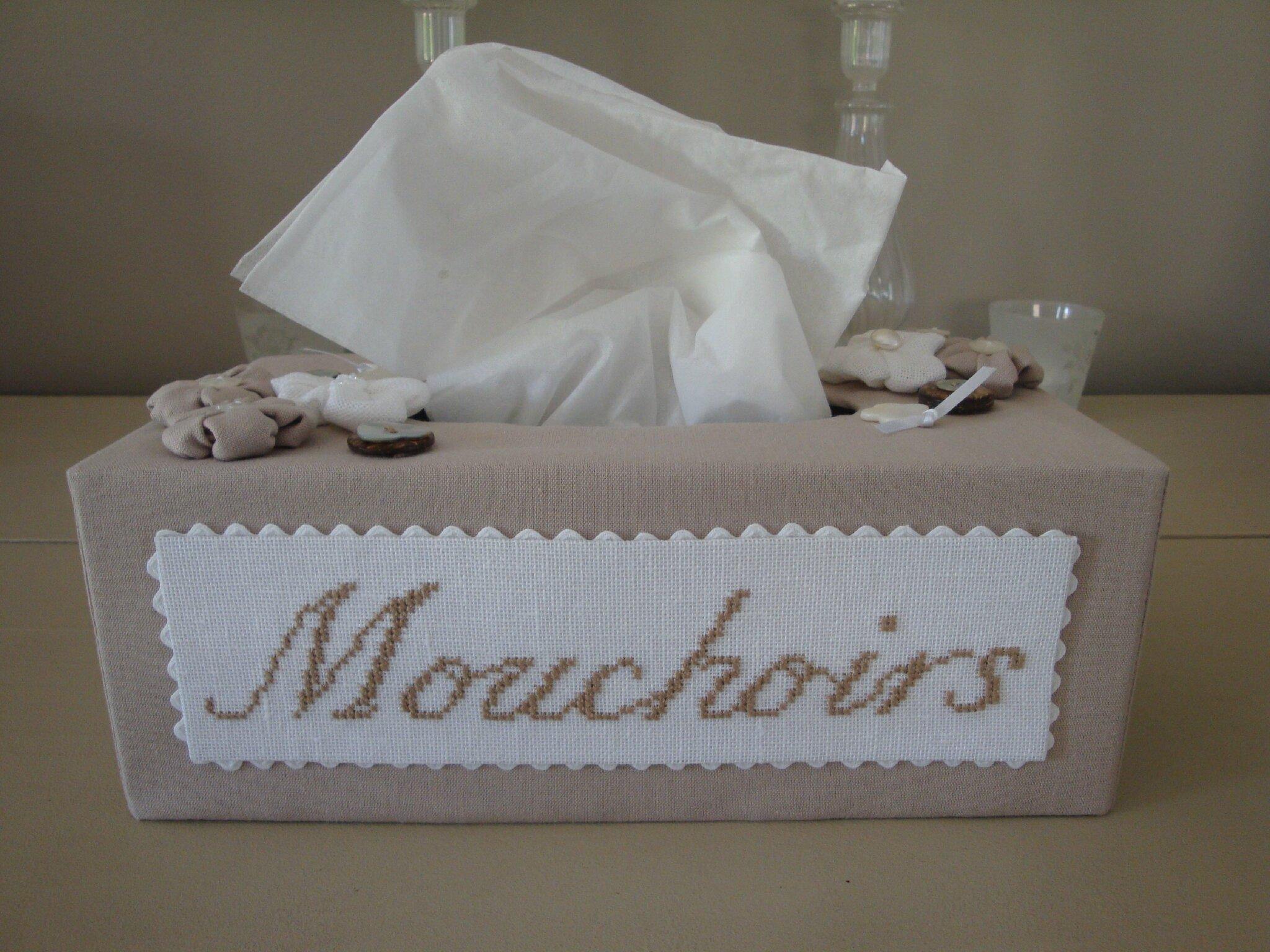 Boites mouchoirs c t broderie - Boite de mouchoirs personnalises ...